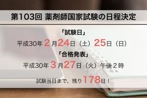 第103回薬剤師国家試験日程、概要